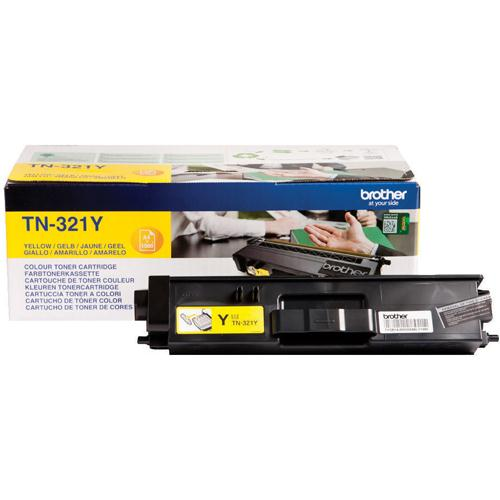 Brother Laser Toner Cartridge Yellow Pack of 1 TN-321Y