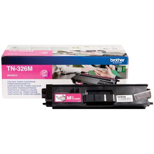 Brother High Yield Laser Toner Cartridge Magenta Pack of 1 TN-326M
