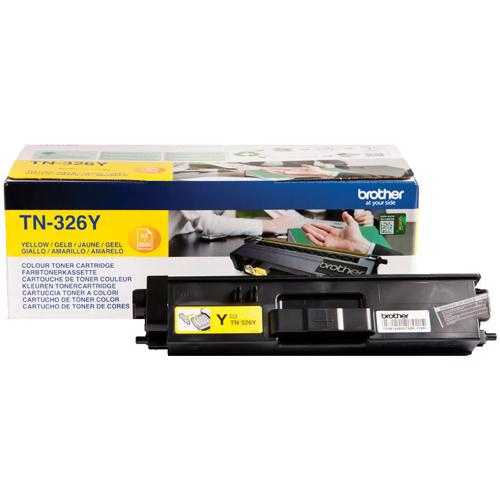 Brother High Yield Laser Toner Cartridge Yellow Pack of 1 TN-326Y