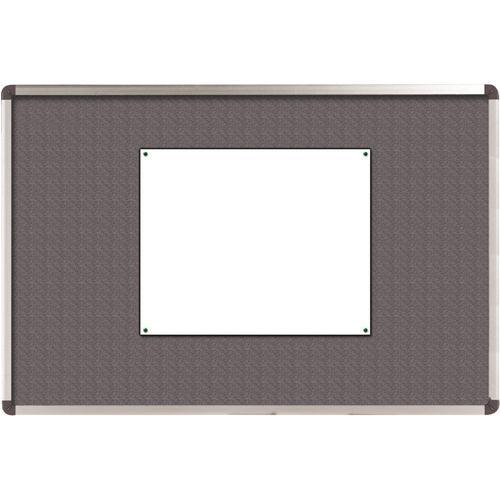 Nobo Elipse Notice Board Felt 1200x900mm Grey 1900912