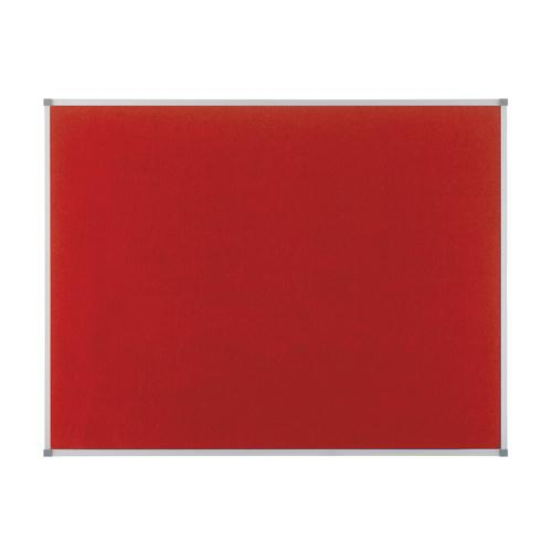 Nobo Elipse Notice Board Felt 900x600mm Red 1902259