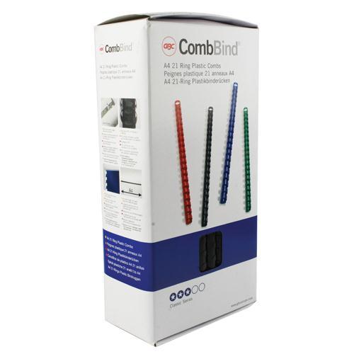 GBC Black CombBind Binding Combs 12mm 4028177
