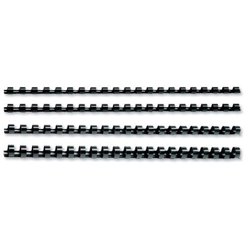 GBC Black CombBind Binding Combs 19mm 4028601