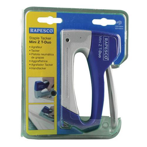 Rapesco Tacker Mini Z T-Duo Blue/Silver 0954