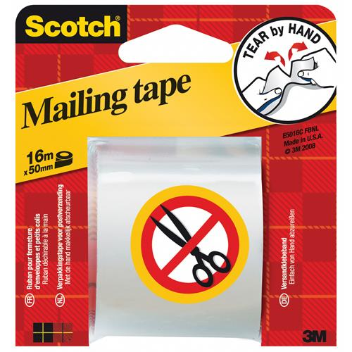 Scotch Packaging Tape Hand Tearable 50mm x 16m E.5016C