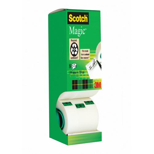 Scotch Magic Tape Tower Pack of 8 Rolls 19mm x 33m 8-1933R8