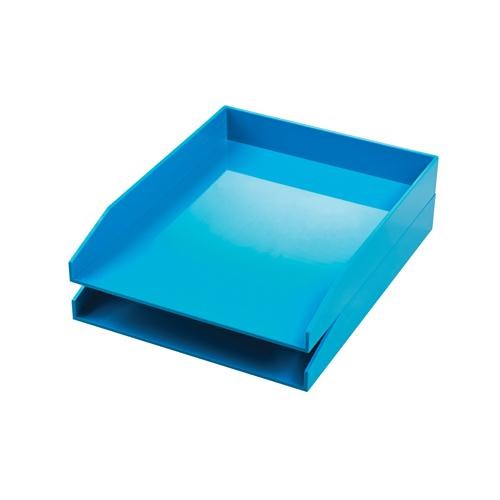 Avery ColorStak Letter Tray Cool Blue CS102