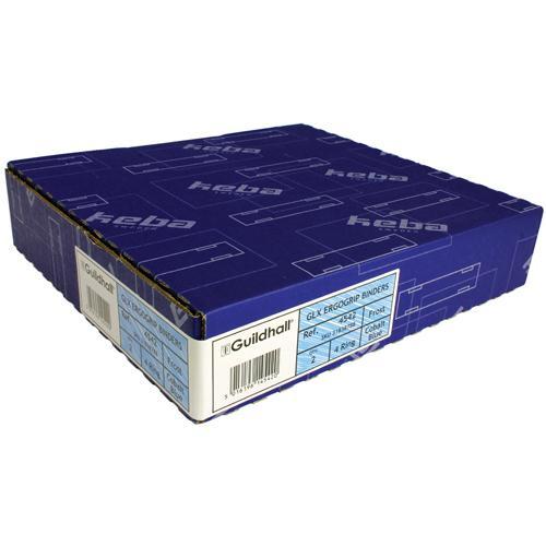 Guildhall GLX Ergogrip Frosted Ring Binder Cobalt Blue 4542