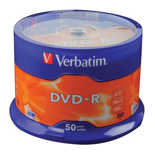 Verbatim DVD-R 16x Non-Printable Spindle Pk 10 43523